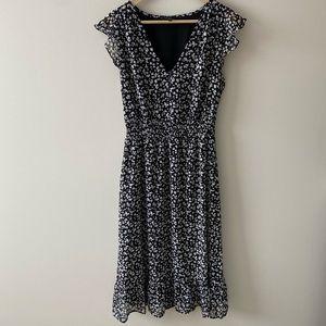 Lucky Brand Printed Midi Dress